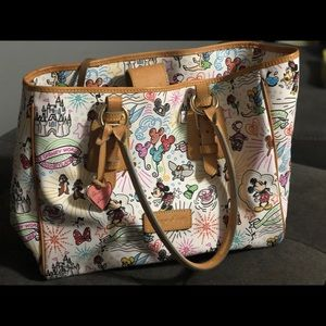 Dooney & Bourke Disney Sketch Large Purse